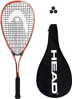 HEAD Tête Cyber Edge Raquette de Squash + 3balles de Squash RRP £110