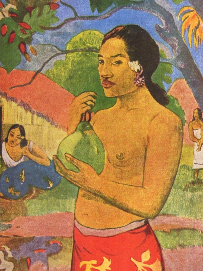 Lais Puzzle Paul Gauguin - Tahitische Frau mit Frucht, Detail 2000 Teile