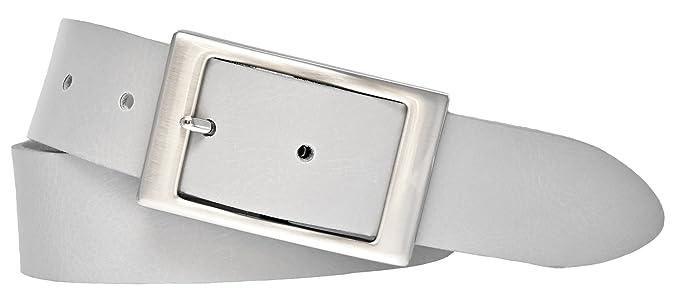 d3b2e13c6eed13 Bernd Götz Damen Leder Gürtel 35 mm hellgrau Nappaleder kürzbar Damengürtel  (80 cm)
