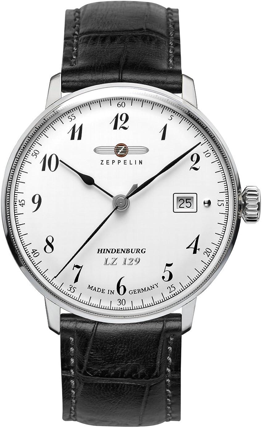 Zeppelin Watches 7046-1 - Reloj analógico de Cuarzo para Hombre con Correa de Piel, Color Negro