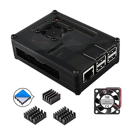 Amazon Com Smraza Raspberry Pi 3 B Case With Fan And Aluminum