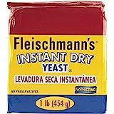Fleischmann's Yeast, Fleischmann's Instant Dry Yeast, 16 Ounce - 1 Pack, Fast-Acting, Gluten Free, No Preservatives