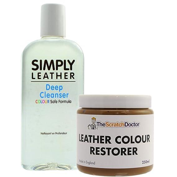 Juego de limpiador de cuero y restaurador de color. * Oferta ...