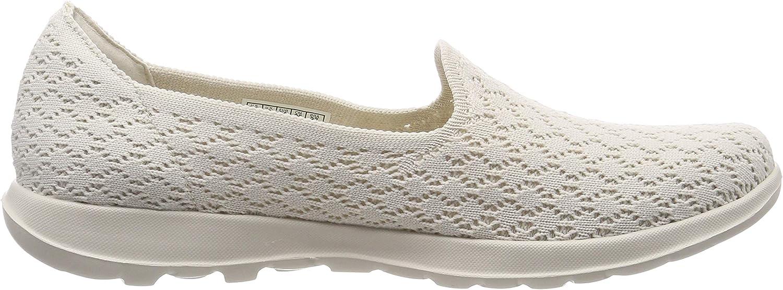 Skechers Damen Go Walk Lite Daisy Slip On Sneaker, Schwarz