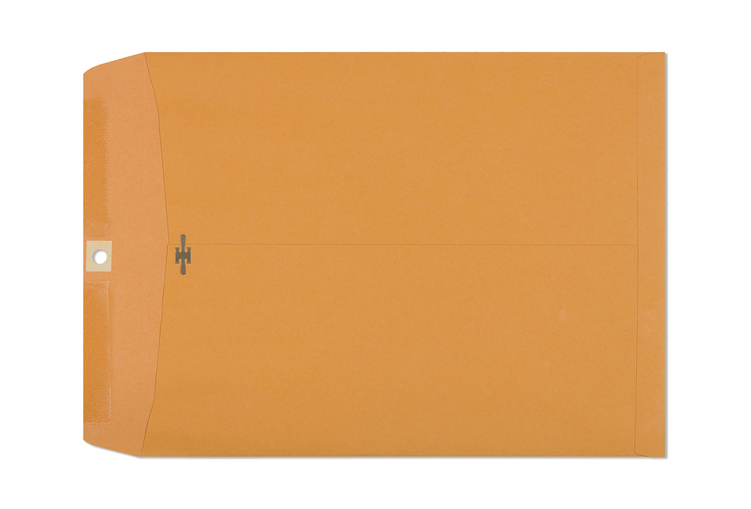 Clasp Envelopes – 10x13 inch Brown Kraft Catalog Envelopes with Clasp Closure & Gummed Seal – 28lb Heavyweight Paper Envelopes for Home, Office, Business, Legal or School 30 Pack 10x13, Brown Kraft