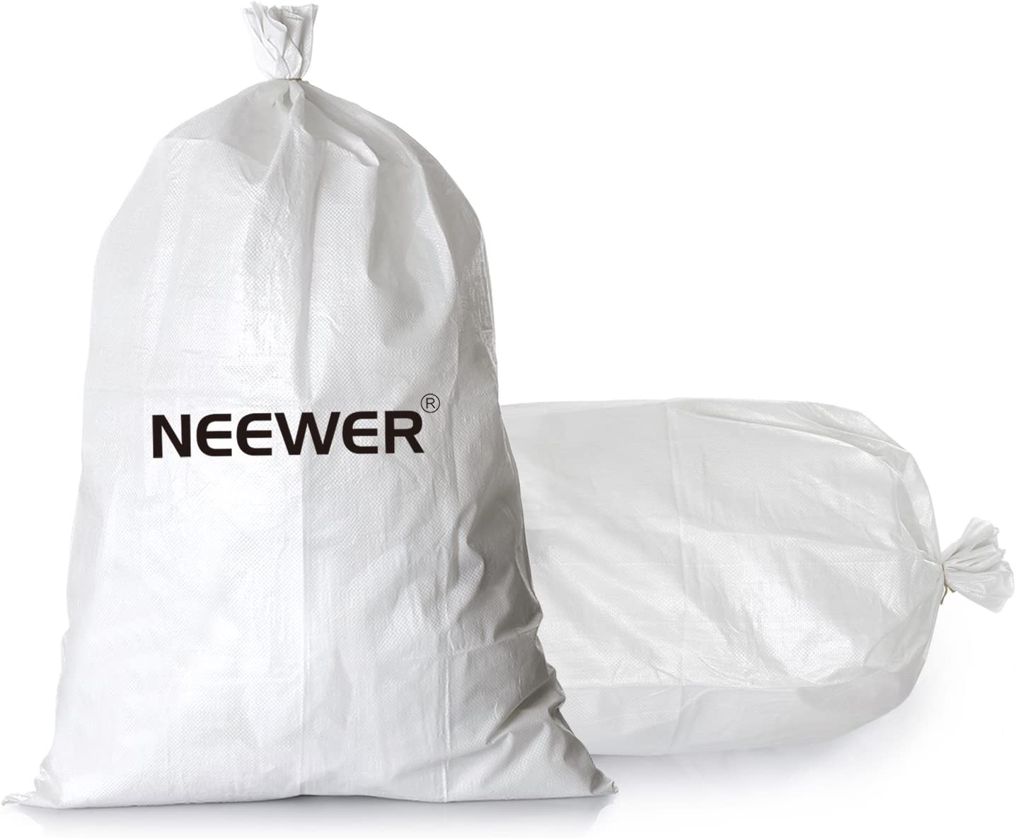 Neewer 20 Pack 25x14//63cm x 35cm Empty White Woven Polypropylene Sandbags with UV Coating Protection for Flood Protection,Construction Projects,Driveway and Traffic Control