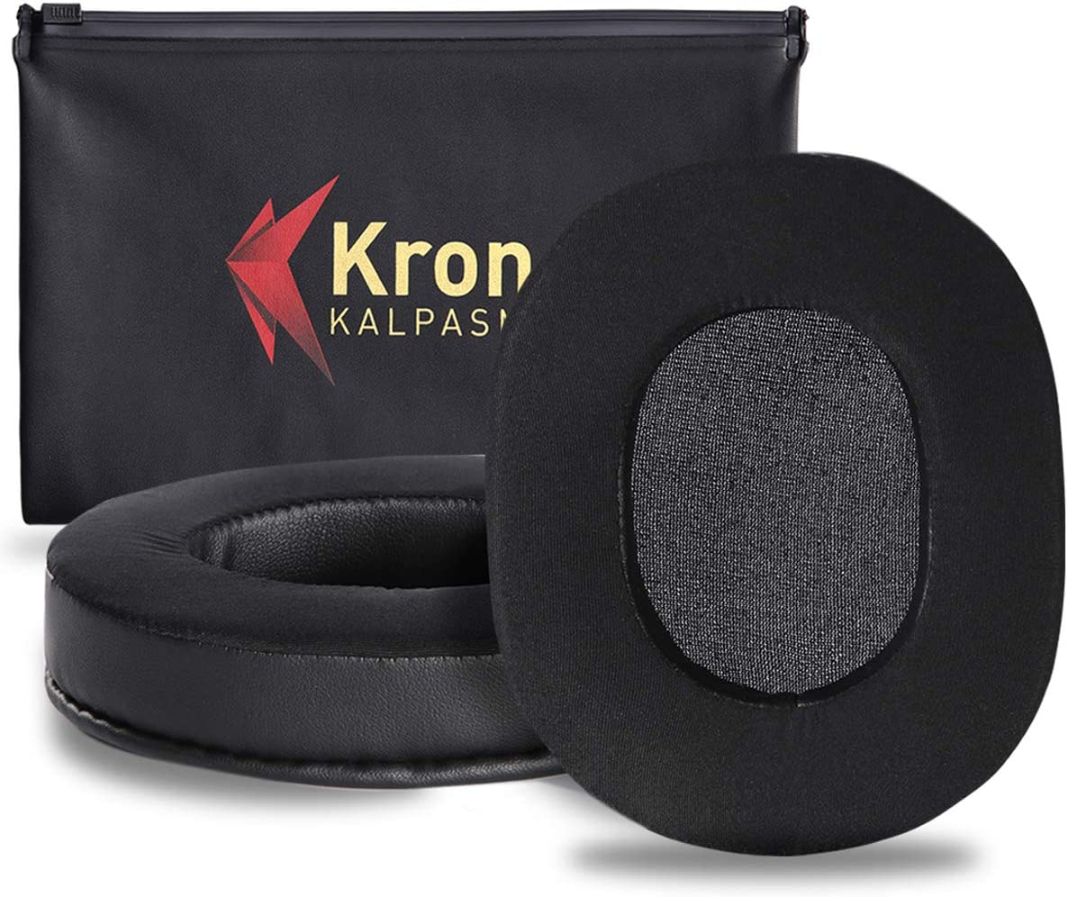 Krone Kalpasmos Upgraded Cooling-Gel Ear Pads for Turtle Beach Stealth Headphones Many Other Large Over Ear Headset Cups Cushions Compatible with ATH M-Series//HyperX//Sennheiser//Sony Full List Inside