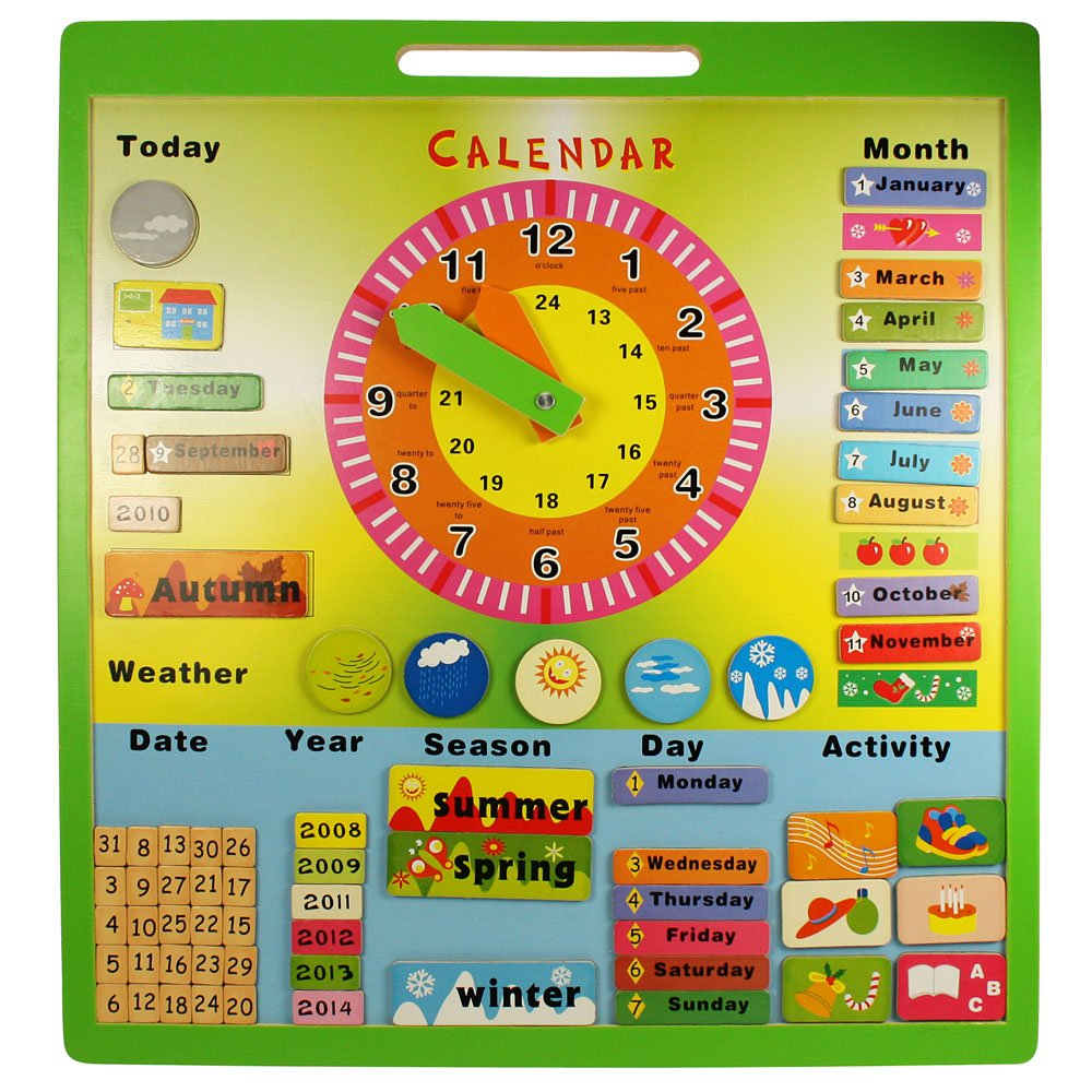 Bigjigs Toys BJ414 Magnetic Weather Board Toyday Traditional & Classic Toys
