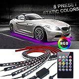 Car Underglow Lights,EJ's SUPER CAR Underglow Underbody System Neon Strip Lights Kit,8 Color Neon Accent Lights Strip…