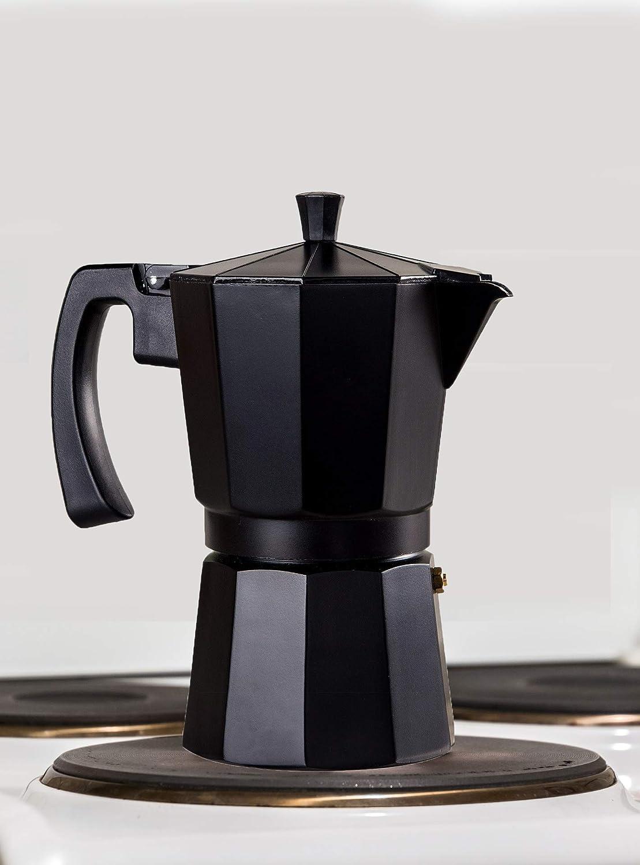 WECOOK 30109 Cafetera aluminio LUCCIA apta inducción, 9 tazas, Acero Inoxidable: Amazon.es: Hogar