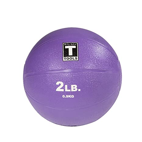 Body-Solid Tools BSTMB2 2-Pound Medicine Ball (Purple)