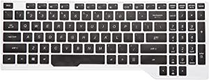 Leze - Ultra Thin Soft Keyboard Skin Cover for ASUS FX503VD FX504 FX505 FX705,ROG STRIX GL503 GL504 GL703 GL704GM GL704GV GL704GW Gaming Laptop - Black