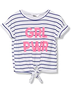 M/&Co Teen Girl Bee Positive Slogan T-Shirt with Short Sleeves