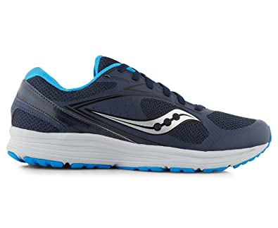Saucony Men's Grid Seeker Running Shoe, Navy/Black/Royal, ...
