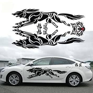 Amazoncom Eaglerich Personalized D Wolf Totem Decals Car - Design decals for cars