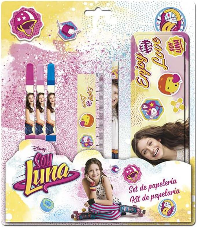 YO Soy Luna Set de papeleria con Estuche metalico: Amazon.es: Juguetes y juegos
