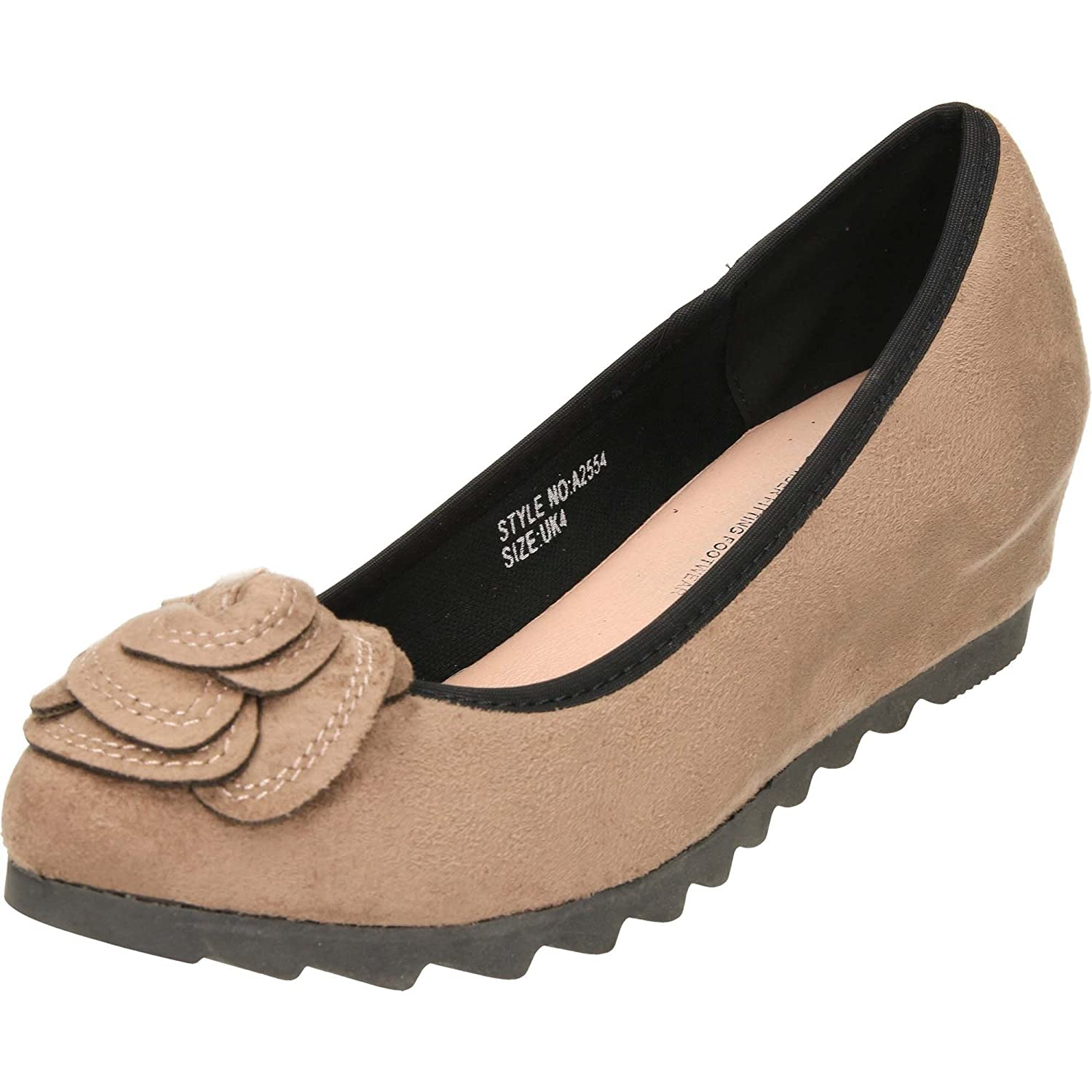 14ec2500844a Comfort Plus Women s Florence Shoes Wide Fit Concealed Wedge  Amazon.co.uk   Shoes   Bags
