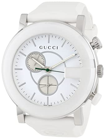 9a39bb640c0 Buy Gucci G Chrono White Women s Watch(Model YA101346) Online at Low Prices  in India - Amazon.in