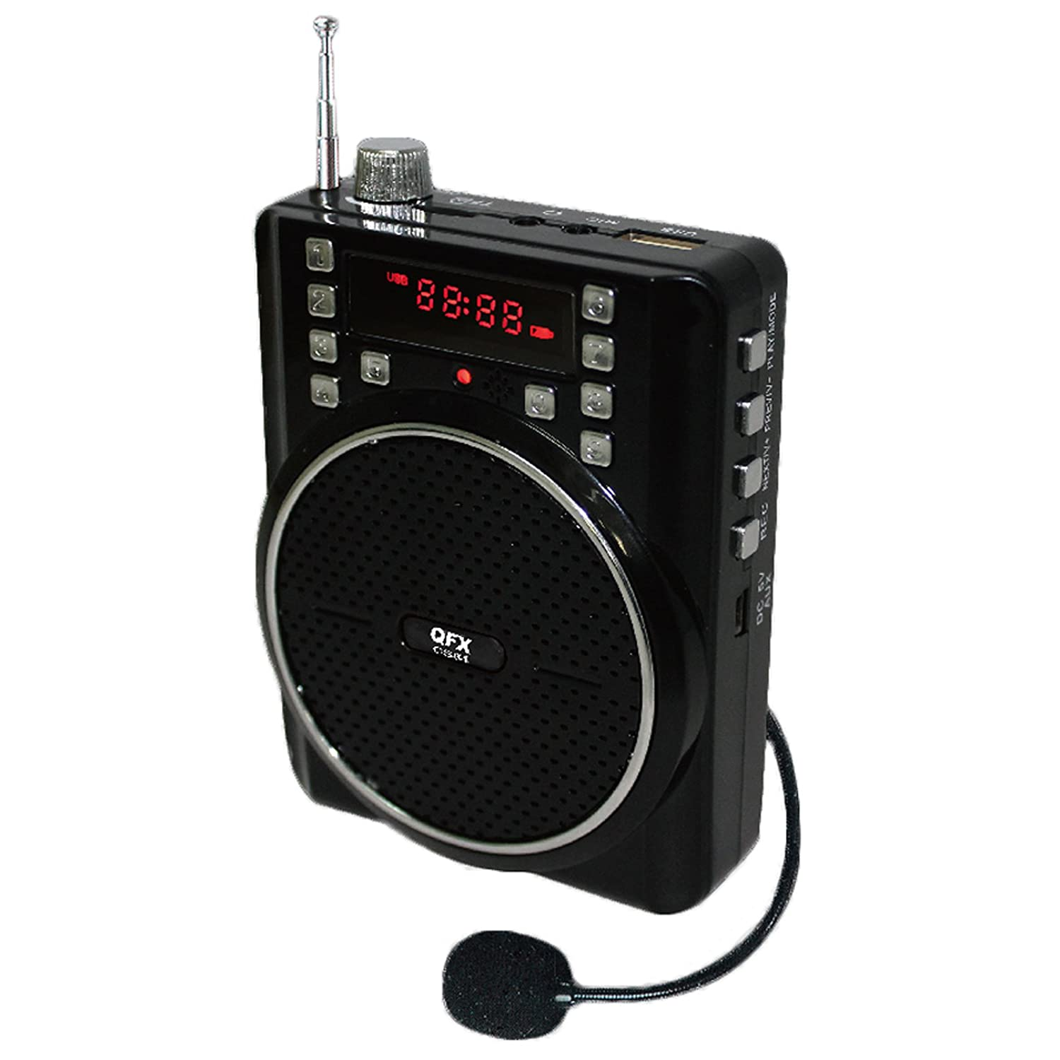 Portable Battery Heater Amazoncom Qfx Cs 84 Portable Pa System W Usb Micro Sd Fm Radio