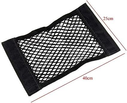 Car Trunk Cargo Elastic Fabric Mesh Design Luggage Storage Net 40cm x 25cm