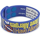 """AllerMates - """"I Have Allergies"""" Silicone Wristband"""