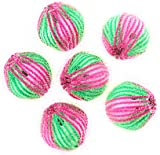 Cdet 6Pcs Reusable Laundry Cleaning Balls Pink and Green