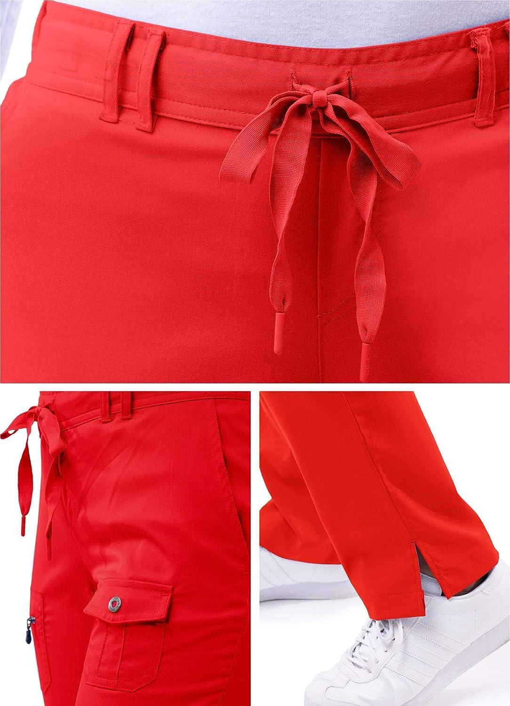 Adar Pro Prendas m/édicas para Mujer Pantal/ón m/édico Skinny de Yoga