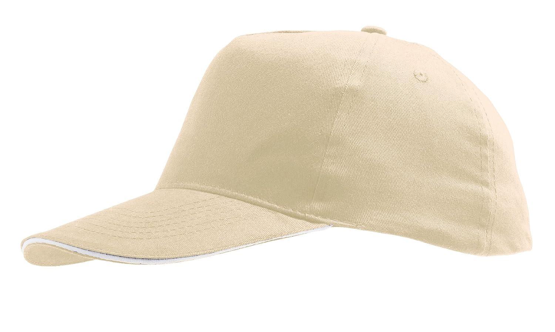SOLS Mens Sunny Cap Beige//White ONE