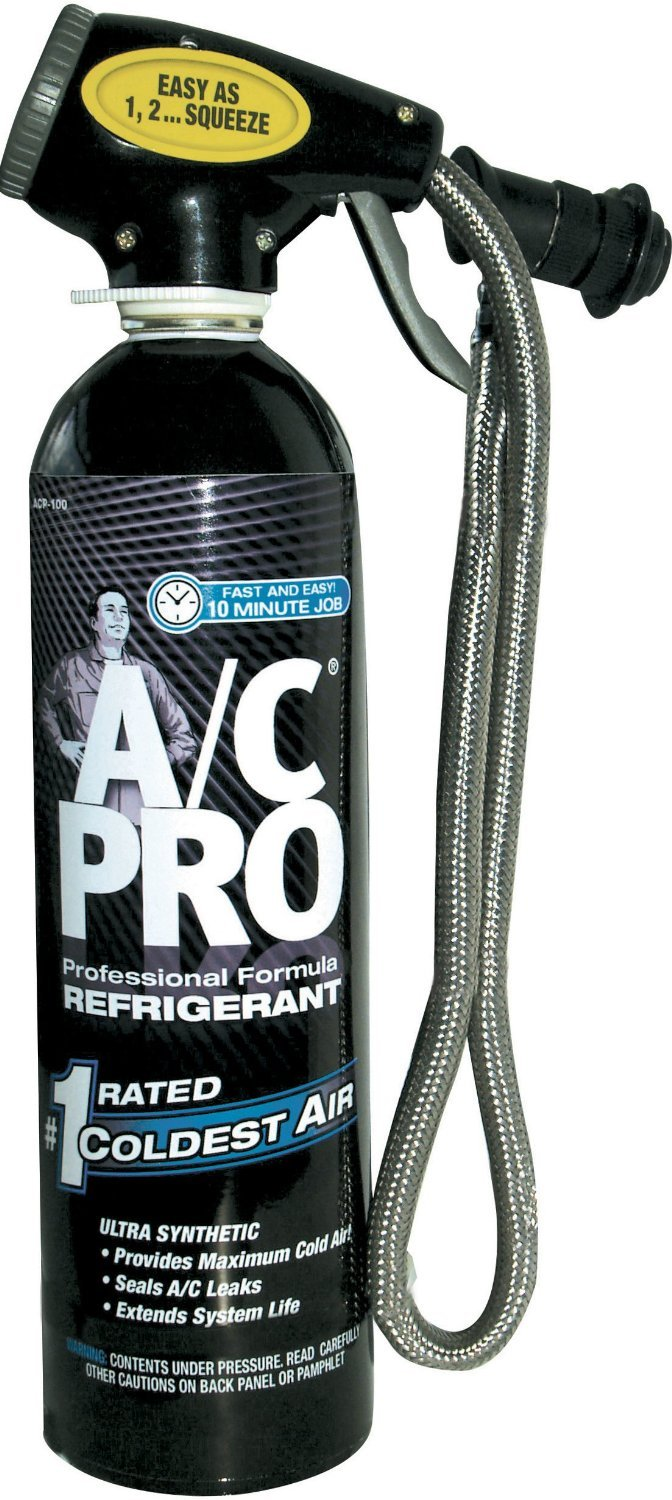 A/C PRO ACP-100 Professional Formula R-134a Ultra Synthetic Air Conditioning Refrigerant with Reusable Dispenser and Gauge - 20 oz. - 3 Pack by Interdynamics
