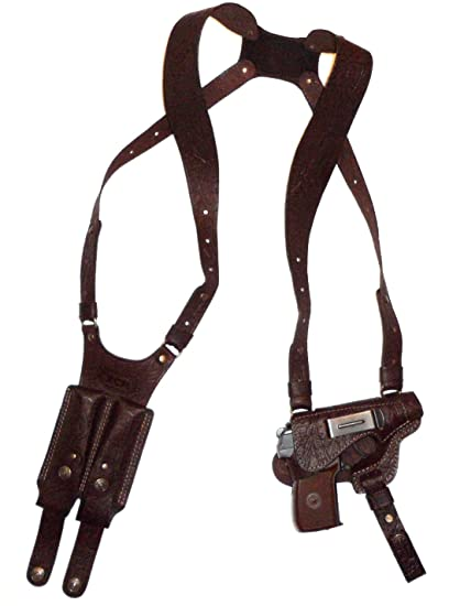 Shoulder Gun Holster With Double Magazine pouch Ruger lc9, Makarov, Bersa  Thunder  380, Walther PPK PPK/s, Beretta-85