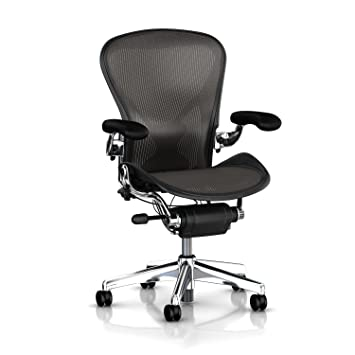 Wondrous Executive Aeron Chair By Herman Miller Polished Aluminum Frame Leather Arms Posturefit Lumbar Carbon Classic Size C Large Creativecarmelina Interior Chair Design Creativecarmelinacom