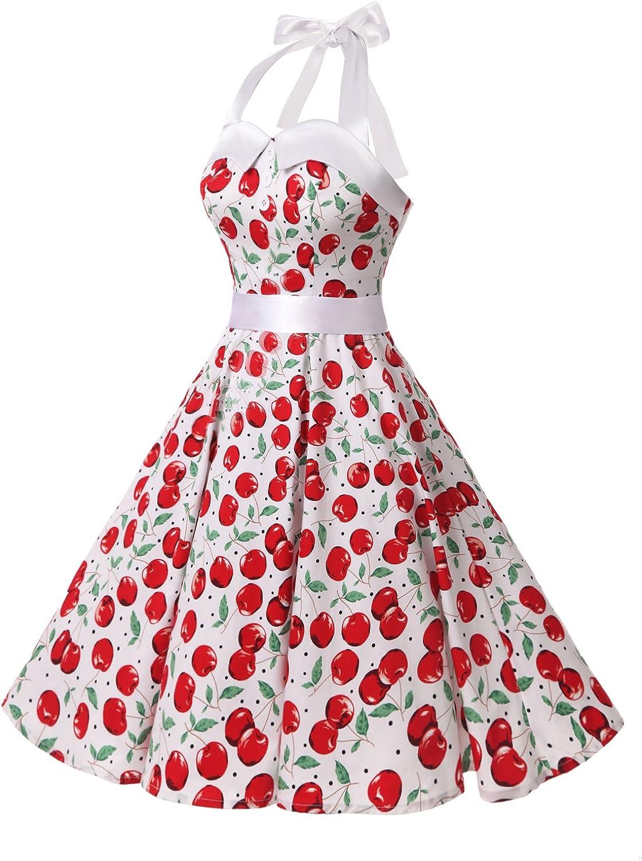 vestito a fiori da cocktail party con fascia in vita Dressystar /'60 stile retr/ò//rockabilly anni 50
