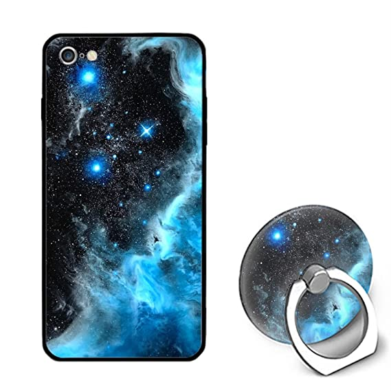 best website 736a6 fe358 Amazon.com: iPhone 6/6s Case,Personalized Blue Galaxy Space Universe ...