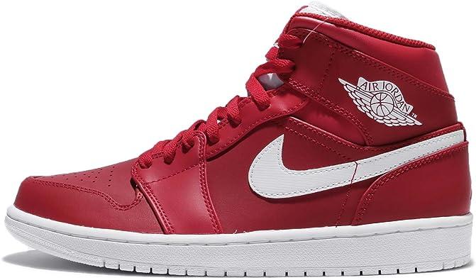 air jordan 1 mid hombre rojas