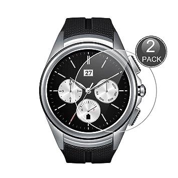 E-Hamii [2-Pack LG G Watch Urbane 2nd W200 Protector de Pantalla, 0.26mm HD Anti-Scratch y Anti-Huella Digital Proteger la película, 9H Vidrio ...