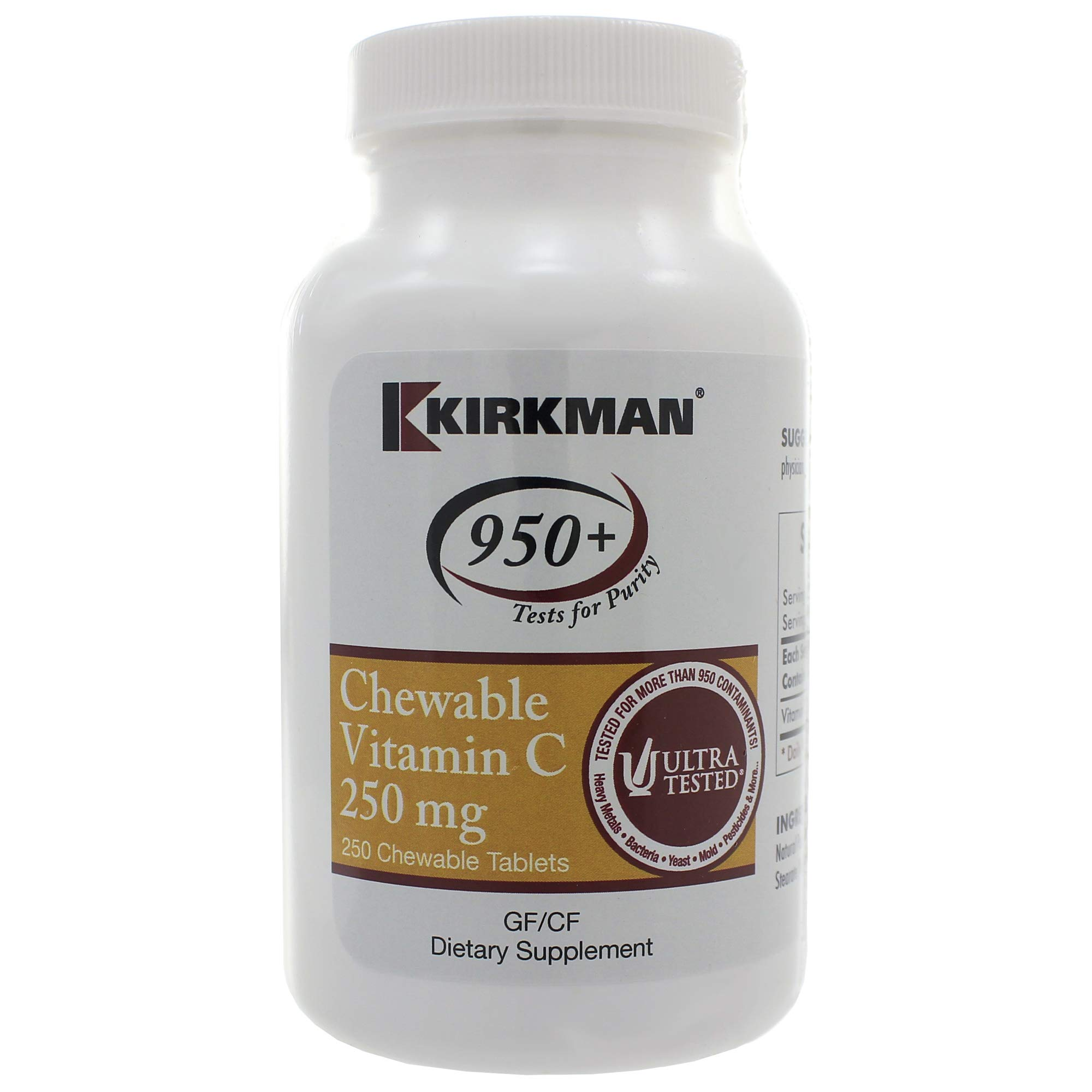 Chewable Vitamin C 250mg 250 Chewables - Pack of 3
