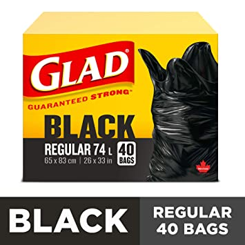 Amazon.com: Glad easy-tie Regular bolsas de basura, 40 ct ...