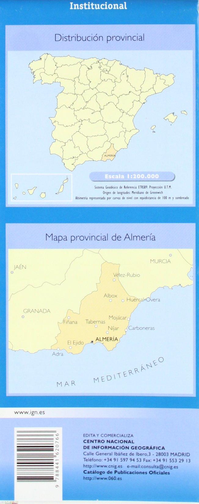 Mapa de la Provincia de Almería a Escala 1:200.000: Amazon.es: VV.AA.: Libros