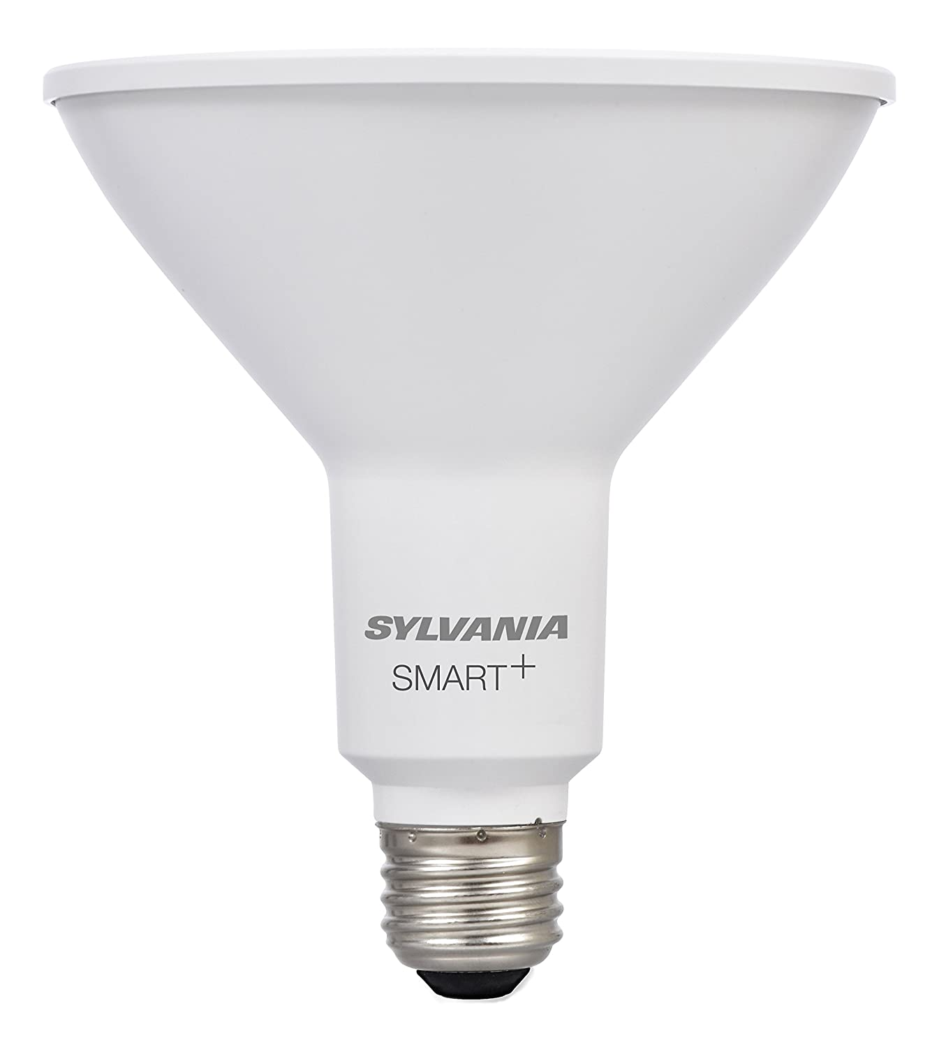 Sylvania Smart Home 74580 Dim Sylvania Smart+ LED Light Bulb, PAR38 Dimmable White, 60W Equivalent, Works with SmartThings and Alexa, 10 Year Series Soft
