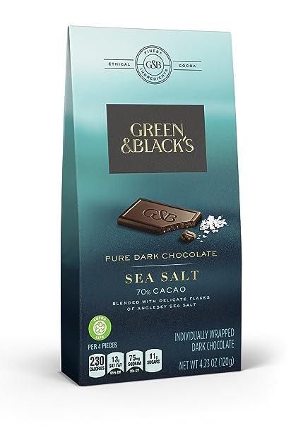 online store 39cb0 abb7f Amazon.com  Green  Blacks Pure Dark Chocolate Pieces with Sea Salt, 4.23  Ounce Bag  Grocery  Gourmet Food