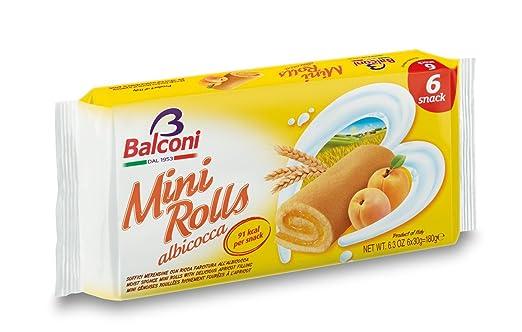 2 opinioni per Balconi Mini Rolls Albicocca- 180 gr