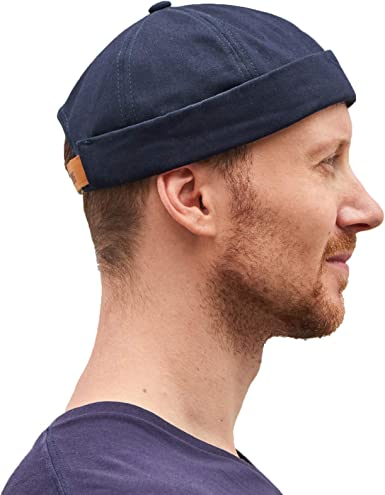 CHARM Gorra Sin Visera Algodón Hombre - Gorro Pescador Docker Hat ...