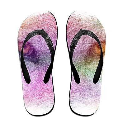 b7b09b98c1fb1 Eye of Wolf Men s Beach Flat Rubber Sandals Flip Flops