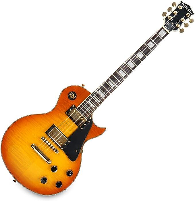 Guitarra eléctrica color naranja Pro Honey Burst Les Paul