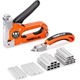 THINKWORK Heavy Duty Staple Gun, 4 in 1 Staple Gun for Upholstery with 4000 Staples, Nail Gun for Wood, Cable, Fabric…