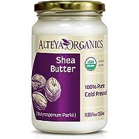 Alteya Ekologiskt sheasmör 350 ml - 100 % USDA-certifierat organiskt rent naturligt raffinerat sheasmör (Butyrospermum…