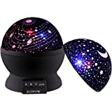 Baby Star Light Projector,SCOPOW 360 Degree Rotating 3 Mode Romantic Star Night Projector For Kids Children Bedroom(Black)