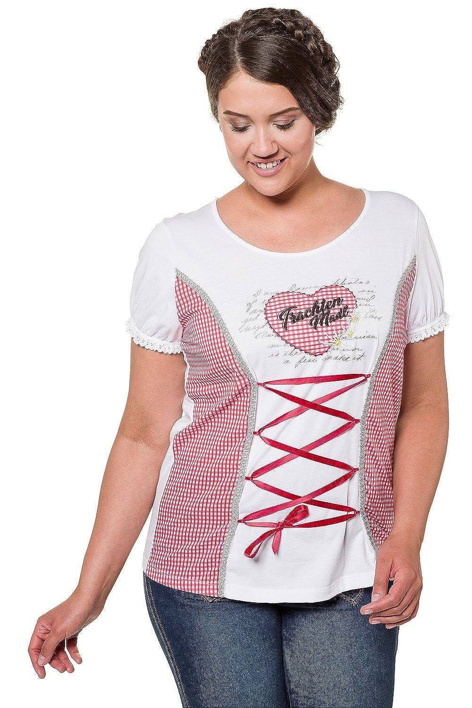 3ff99a37ce gut eingezäunt Ulla Popken Damen Große Größen bis 62+ | Shirt |  Trachten-Motiv