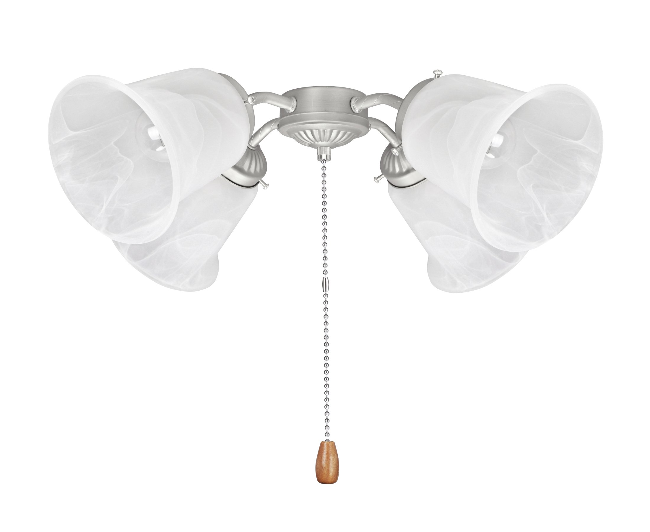 Aspen Creative 22003-11 Ceiling Fan Fitter Light Kit Brushed Nickel