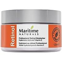 Canada's Premium Retinol Moisturizer for Face - Huge 120ml - Hyaluronic Acid and Vitamin A - Super Anti Aging Skin Cream - Professional Grade, Vegan, Cruelty Free - Organic Face Lift in a Jar by Maritime Naturals